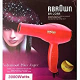 RBROWN BR-2288 Hair Dryer - 3000W - Red