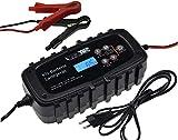 ChiliTec Vollautomatisches Batterie Ladegerät für Motorrad- & Auto 6V /12V 6,5Ah Batterie Ladezyklen