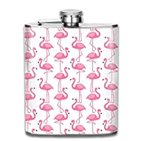 iuitt7rtree 7 Oz Stainless Steel Flask Pink Flamingo Hip Liquor Flask Funny Flask Whiskey Vodka Alcohol Hip Flask for Men Travel Climbing Fishing Camping