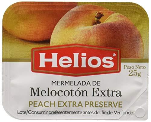 Helios Mermelada de Melocotón - Bandeja con 64 unidades de 25 gr