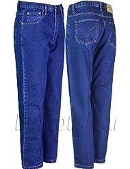 Denim Vaqueros de trabajo CASUAL para hombre Denim Jeans con interior de la pierna 31cm Approx resistente Heavy Duty tallas grandes hasta 66pulgadas cintura grandes tamaños