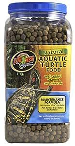 ZOOMED NATURAL AQUATIC TURTLE FOOD 1,27 kg Aliment tortue d'eau maintenance (tortue de 15 cm et plus)