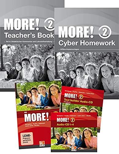 MORE! 2 Schulpaket analog: Teacher\'s Book, Test builder Sofware Schullizenz, Cyber Homework - Offline Kopiervorlagen, Audio-CDs, DVD