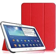 Fintie Samsung Galaxy Tab 3 10.1 Funda - Ultra Slim Smart Case Funda Carcasa con Stand Función y Auto-Sueño / Estela para Samsung Galaxy Tab 3 10.1 pulgadas P5200 / P5210 (Rojo)