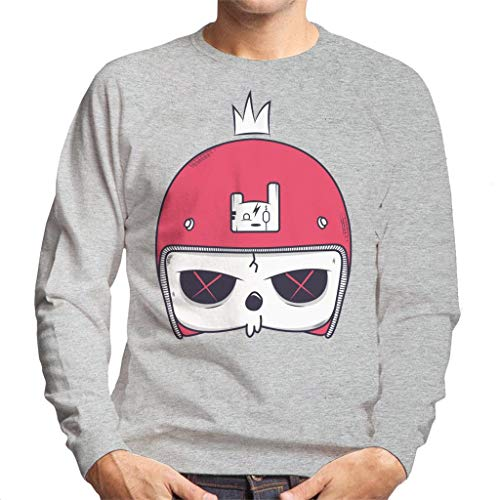 Cartoon Skull Helmet Men's Sweatshirt