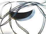 CaPiSo® 100 m Organza Chiffon 3 mm breit mit Webkante (Schwarz)