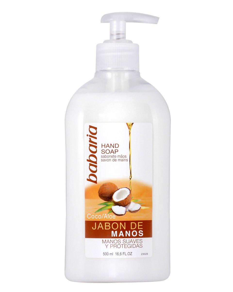 Babaria – Jabón De Manos de Coco&Aloe, Blanco, 500 ml