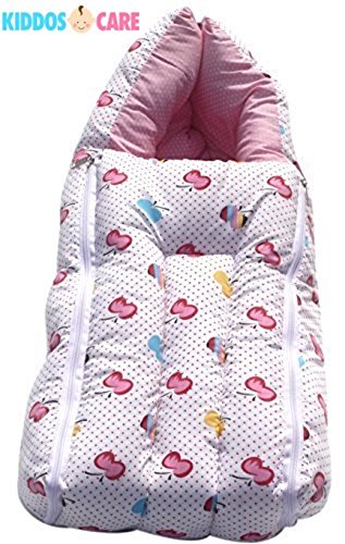 KiddosCare 3 In1 Baby Bed Cum Bedding Set-Baby Carrier-Sleeping Bag for New Born (Print May Vary)  available at amazon for Rs.245