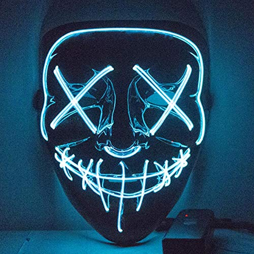 Kinder Schurken Kostüm Super - Led Maske Purge Masken Wahl Mascara Kostüm Dj Party Leuchten Masken Glow In Dark Für Halloween