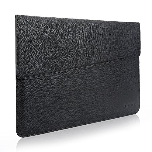 MacBook 13.3 Sleeve, Evecase Sottile in Pelle Premium Custodia Portatile per 13.3 pollici MacBook Air/MacBook Pro/Retina/iPad Pro - Nero