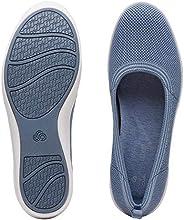 حذاء سهلة الارتداء كلاركس للنساء, (ازرق), 4 UK