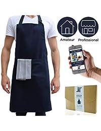Tempery ✮ Delantal de cocina - Delantal hombre cocinero cocina - Delantal  professional chef barbacoda mujer - calidad Premium 100%… 0ed174cb604
