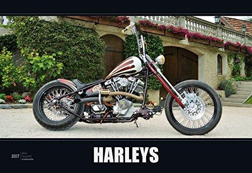 Harleys 2017 - Bildkalender quer (50 x 34) - Motorradkalender - Technikkalender