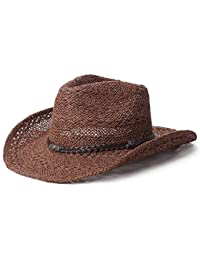 Sombrero Unisex De Vaquero En Forma De Paja con Fashion Sombreros Sombrero  De Verano para Hombre 783fe11e3e4