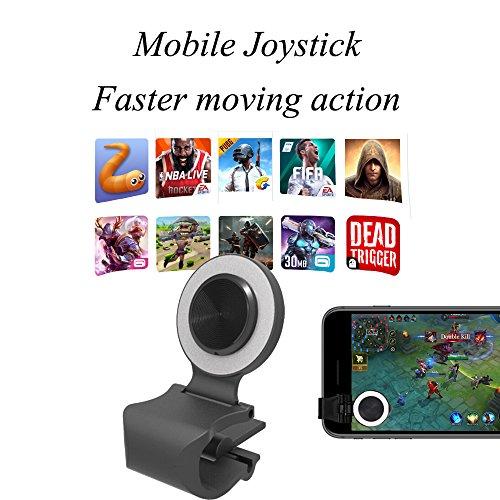 Housse de téléphone à écran tactile Joystick Joypad Jeu Rocker smartphones Mini Manette de jeu pour Android, iOS/iPhone et tablettes/iPad