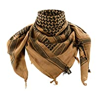 M-Tac Tactical Shemagh Desert Scarf Wrap High Density Cotton (Coyote/Black)