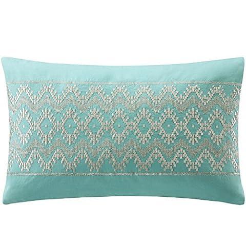 Echo Mykonos Sateen Oblong Pillow, Turquoise, 10 by 16-Inch by ECHO