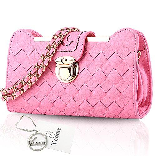 Sacchetti di zaino alla moda per ragazze Borse da donna eleganti per borse da donna borse - Lotus Pink Rosa