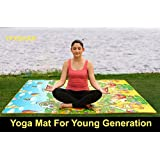 YFXOHAR Unisex Yoga Mat with one Sided Non-Slip Surface for GYM Exercises and Other Sports Activities, 6mm Thick (Multicolour)