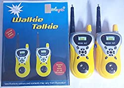 Aksh Enterprise yellow walkie talkie set