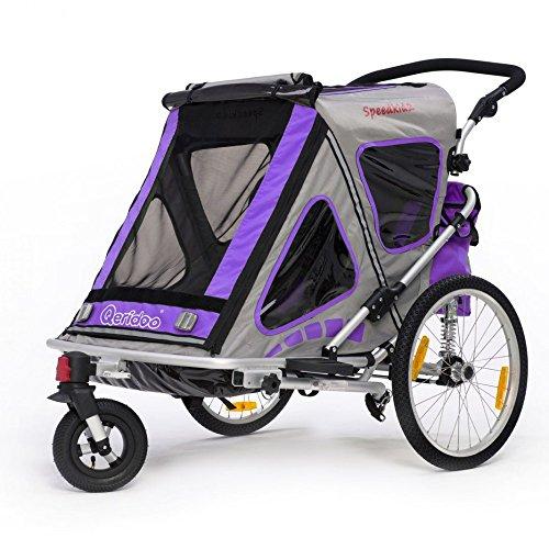 Qeridoo Q200A-Violet Speedkid2 Fahrradanhänger 2016, violett