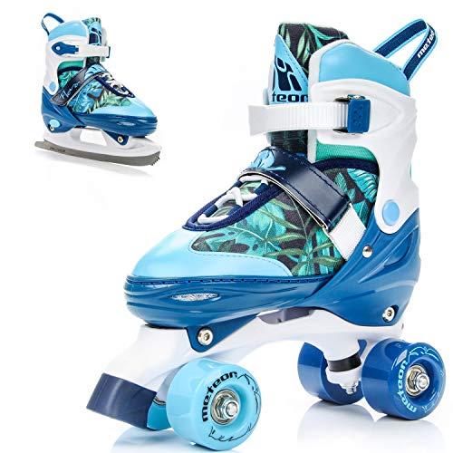 meteor 2in1 Rollschuhe und Schlittschuh - Kinder Rollerskates Set - Dieser Schuh ist im Sommer als Rollschuh -im Winter als Damen Schlittschuh...