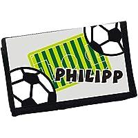 MissRompy Fussball (841) Geldbeutel mit Name Geldbörse Kindergeldbeutel Kindergeldbörse Wunschname