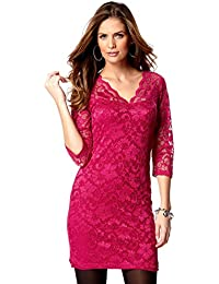 Ladies Pink Lace Dress for Women Sizes 22 - 28 ( plus sizes)