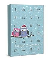 """SIX """"Weihnachten"""" Schmuck Adventskalender Eulen Tiermotiv 24-teilig Geschenke Überraschung XMAS Adventszeit Ohrringe Ketten Ringe Armbänder (388-279)"""