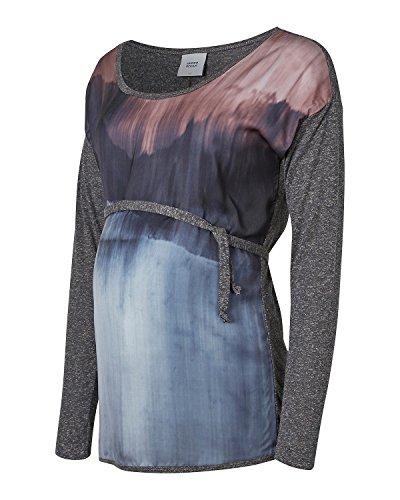 MAMALICIOUS - T-Shirt à manches longues - Femme Gris