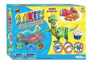 Poof Slinky Stikits 440 Piece Set With Sponge - You Can Build Are Your Imagination (Ages 3+) Jouets, Jeux, Enfant, Peu, Nourrisson