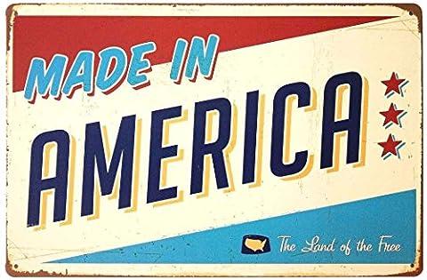 Made in America Retro Vintage Blechschild 17,8x 25,4cm (Ohio Vintage-note)