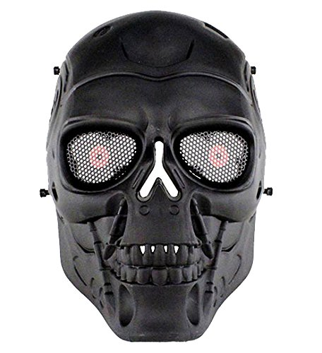 AIRSOFT Full Face Skull Mask Schutzmaske Militär Schutz Paintball Halloween-Kostüm htuk®, (Kostüme Erwachsenen Halloween Militär)