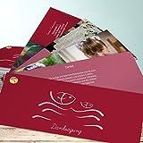 Danksagung Kommunion Karten, Wellig 200 Karten, Kartenfächer 210x80 inkl. weiße Umschläge, Rot