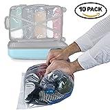 10er Pack – Vakuumbeutel zum Rollen für Kleidung – Kleiderbeutel