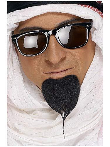 shoperama Schwarzer Scheich Bart selbstklebend Araber Orient Ölscheich Spitz-Bart Kostüm-Zubehör ()