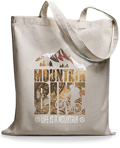 StyloBags Jutebeutel / Tasche Life is a mountain v1 Natur