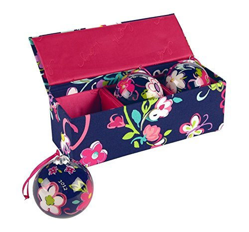 vera-bradley-ornament-trio-in-ribbons-dated-pattern-release-year-2012-by-vera-bradley