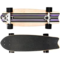 SportPlus - Skateboard Carver - Roulement à Billes ABEC-7 - en Bois d'Érable - Concave Single Kick - Longueur env. 70 cm