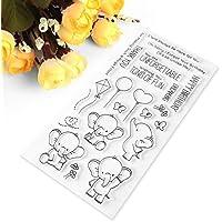 Kimyu-Niedlichen Elefanten Transparent Stempel Silikon Dichtung DIY Scrapbook Tagebuch Album Karte S8