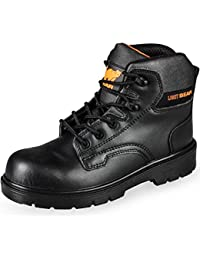 Ultra Lightweight Steel Toe Cap Black Safety Boots Kevlar Midsole Heavy Duty S3 Protection