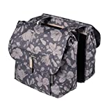 BASIL MAGNOLIA DOUBLE BAG, Doppelpacktasche, 35L (blackberry)