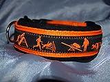 Hunde Halsband Agility schwarz orange