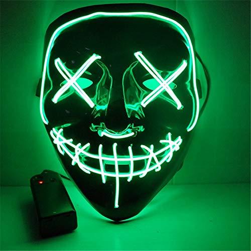 Ytdzsw Halloween Maske LED Leuchten Party Masken Die Reinigung Wahl Jahr Große Masken Festival Cosplay Kostüm Liefert Glow In Dark (Kostüm Dark In Kinder Skelett The Glow)