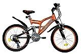 T&Y Trade 20 Zoll MÄDCHEN MTB Mountainbike JUGENDFAHRRAD Kinder Fahrrad KINDERFAHRRAD Bike Rad Kinderrad Fully VOLLGEFEDERT 5 Gang 2700 Orange
