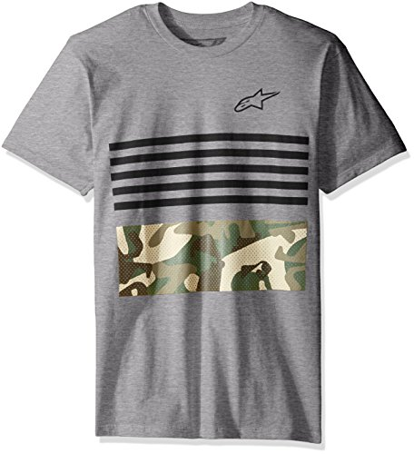 Alpinestars Herren T-Shirt Pressure Motorsports Modern Fit Short Sleeve Grau