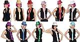 Krawatte mit Pailletten zum Kostüm Karneval Fasching Party grün
