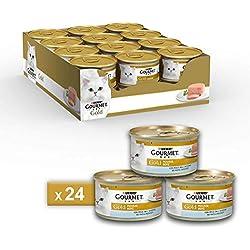 Gourmet Purina Gold Nourriture Humide Mousse pour Chat au Poisson de l'océan-24boîtes de 85g chacune (Pack de 24x 85g)