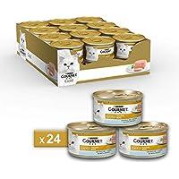 Gourmet Purina Gold Umido Gatto Mousse con Pesce Dell'Oceano - 24 Lattine da 85 g Ciascuna (Confezione da 24 x 85 g)