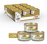 Purina Gourmet Gold Umido Gatto Mousse con Pesce Dell'Oceano, 24 Lattine da 85 g Ciascuna, Confezione da 24 x 85 g